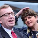Christopher Stalford with DUP leader Arlene Foster. Picture By: Arthur Allison.