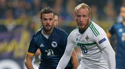 Liam Boyce impressed up front for Northern Ireland.