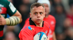 Rising talent: Michael Lowry impressed on his first start for Ulster in the win over Leicester Tigers