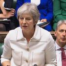 Prime Minister Theresa May addresses the House of Commons (PA)
