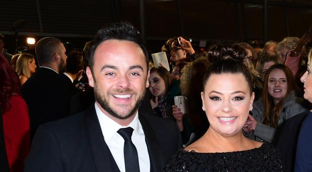 Ant McPartlin and his former wife Lisa (Ian West/PA)