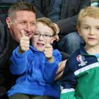 Northern Ireland fans enjoy the U21s' victory over Slovakia at Windsor Park.