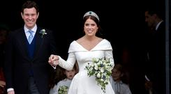 Picture perfect: Jack Brooksbank and Princess Eugenie on their wedding day