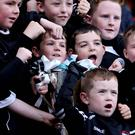 Fun time: young Kilcoo fans at the Down Final at Pairc Esler, Newry last year