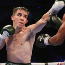 Upward curve: Michael Conlan in action during his victory over Adeilson dos Santos