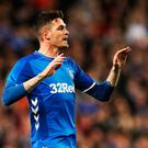 The Irish FA have moved to prevent Kyle Lafferty playing for Rangers this weekend.
