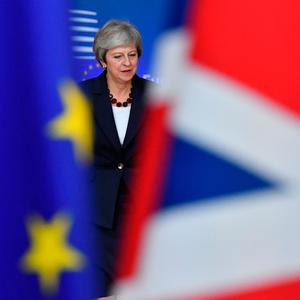 Britain's Prime Minister Theresa May arrives at the European Council in Brussels on October 17, 2018. (Photo by EMMANUEL DUNAND / AFP)EMMANUEL DUNAND/AFP/Getty Images