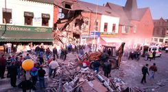 The scene after the Shankill bombing in October 1993