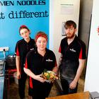 Aphra Hill, Anna Lise McElduff and Joe Woods of Bia Rebel Ramen
