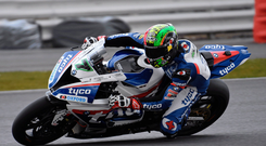 Eyes ahead: Michael Laverty is aiming for his seventh Sunflower Trophy triumph