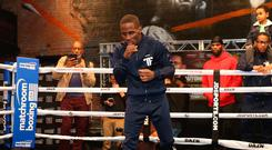 Against all odds: Tevin Farmer works out this week in Boston