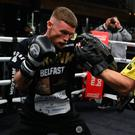 On target: James Tennyson works out in Boston ahead of title tilt