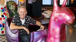 Undated handout photo of Fatboy Slim, aka Norman Cook, who is to change his moniker as he attempts to walk a marathon in a day while hunting down 50 giant snail sculptures for charity.