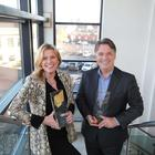 Jannine Waddell, MBE, Chair of RTS NI Awards Committee is pictured with Richard Williams, Chief Executive, Northern Ireland Screen to announce this year's RTS NI Awards finalists.