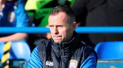 Tough start: Rodney McAree is still looking for his first win as Coleraine manager