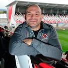 Best days: Rory Best at Kingspan Stadium earlier this week
