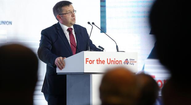 Party leader Robin Swann MLA pictured at the Ulster Unionist Party Conference 2018 in the Armagh City Hotel. Photo by Kelvin Boyes / Press Eye.