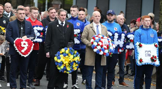 The Shankill community remembers the nine victims of a no warning IRA Bomb on Frizzell's Fish Shop on the 23rd October 1993. Picture by Brian Little/PressEye