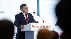 The DUP has dragged unionism into the gutter, Robin Swann said (handout/UUP/PA)