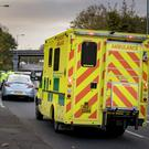 Emergency services at the scene of a collision on the Upper Lisburn Road close to the Blacks Road junction on October 21st 2018 (Photo by Kevin Scott for Belfast Telegraph)