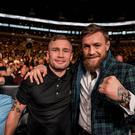Carl Frampton ran into Conor McGregor in Boston. Credit: Carl Frampton.