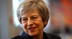 Theresa May has slapped down anonymous MPs who used violent imagery to describe a possible coup to unseat her (Henry Nicholls/PA)