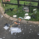 A child's honesty box which sold eggs was destroyed by a firework. Credit: PSNI