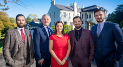 From left, Adam Kemp, Stephen Comer, Julie McIlwaine, Barry Kemp and Sam Harding outside the Beech Hill Hotel