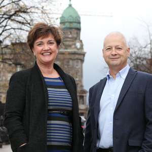 Grainne McVeigh from Invest NI and Peter Keeling from Diaceutics