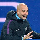 Listen here: Pep Guardiola talks with his assistants during training at the Metalist Stadium