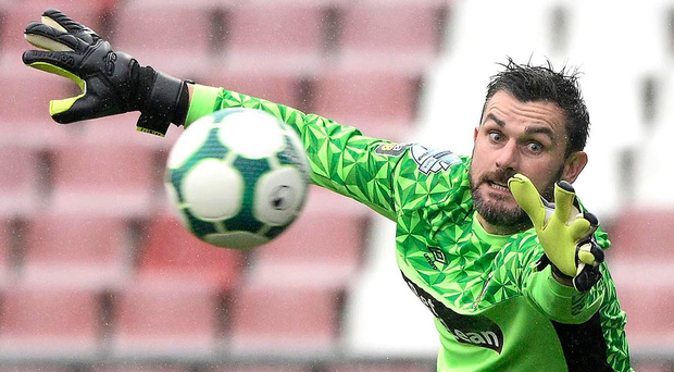 Relishing it: Elliott Morris is confident Glentoran can get a positive result at Windsor Park
