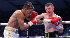 Moving on: Paddy Barnes during his loss to Cristofer Rosales in August
