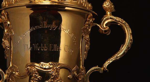 The Rugby World Cup prize - the Webb Ellis Cup.