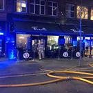 Firefighters battle a blaze at Flame restaurant on Howard Street in Belfast on October 23rd 2018 (Photo by Caoimhe McKeown / Scott Media)