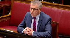 The head of the Northern Ireland Civil Service, David Sterling giving evidence to an earlier session of the RHI Inquiry