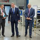 Image of the Defence Minister Stuart Andrew, seen here at the Thales UK factory, in Belfast. Pic MoD