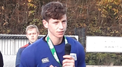 Close call: Banbridge Academy captain and goalkeeper Scott Dale praises his side's efforts after losing by the only goal in the schoolboy final