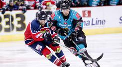 Belfast Giants forward Darcy Murphy in action against the Dundee Stars