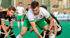 Star man: Ulster's Matthew Bell was a tower of strength in defence for Ireland against Spain