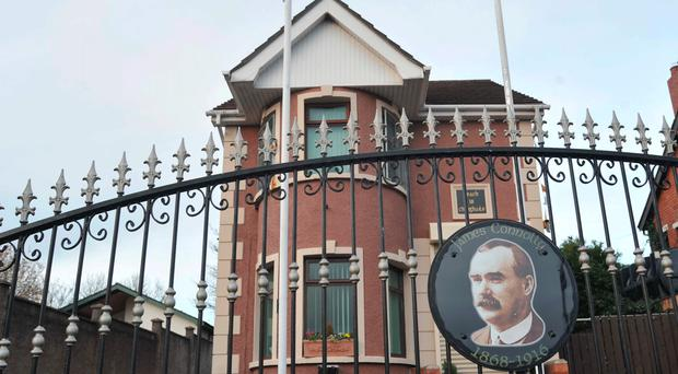 Sinn Fein's Connolly House headquarters in Belfast