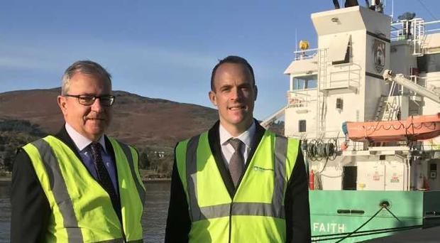 Dominic Raab with Colm Shannon of Newry Chamber of Trade.