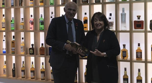 Sir Vince and party colleague Christine Jardine MP met executives from global drinks giant Diageo in Edinburgh (Scottish Liberal Democrats/PA)