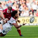 In thick of it: Ulster's Henry Speight in heat of battle