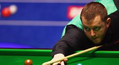 On cue: Mark Allen is awaiting the other semi-final after earning his place in the International Championship decider