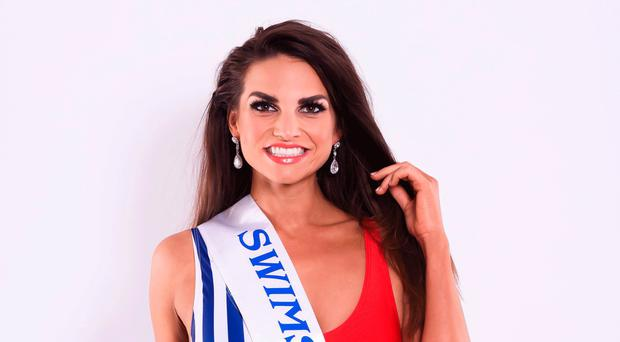 Time of her life: Jordan Humphries from her time at the Miss Swimsuit USA pageant