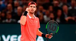 Paris master: Khachanov celebrates