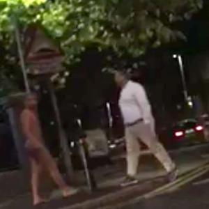 The naked man was spotted on Belfast's Falls Road