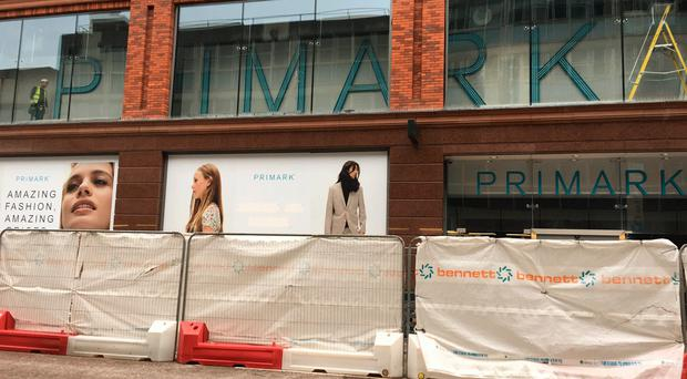 Workers on site in Primark's Commonwealth House store in Castle Street