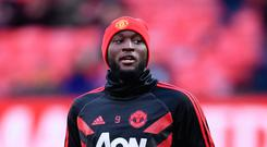 Ruled out: Injured Romelu Lukaku