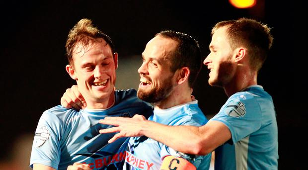 Major ambition: Tony Kane (centre) is out for trophies and success